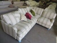 Gower: Racing Stripe Left Hand Facing 3 Seater Corner Sofa