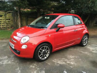 Red Fiat 500 Pop with LOW MILEAGE for sale!