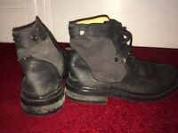 Diesel leather boots, size 8