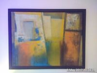 Large painted canvas 128cmx100cm
