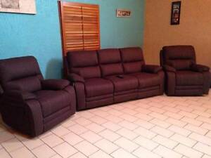 3 Seater Recliner Couch & 2 Recliner Chairs Parkwood Gold Coast City Preview