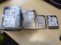 Computer and Laptop Hard Disks, various sizes