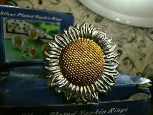 3 Boxes New Sunflower Napkin Rings
