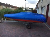For Sale 14ft Speed Boat with trailer and cover.(no engine)