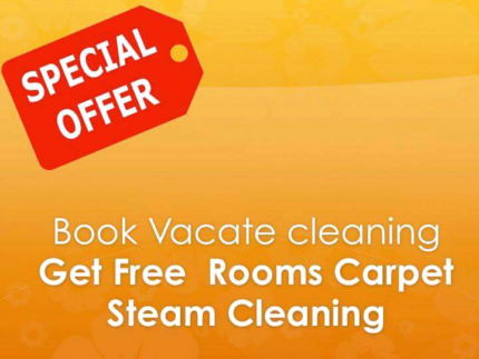 Book vacate cleaning  Get Free Carpet  Steam  Cleaning