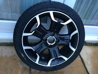Citroen ds3 alloy wheel and tyre