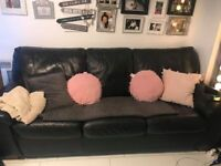 Leather Sofa bed DFS
