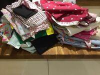 Huge bundle of sewing accessories material, books, zips etc