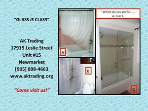 REPLACE SHOWER CURTAIN W/TUB GLASS DOORS,CRAZY SALE!!