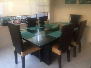 Large mahogany dining table with 6 chairs Putney Ryde Area Preview