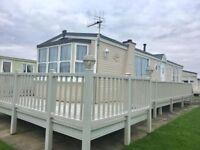 Cheap static caravan including huge decking and site fees for sale in skegness/mablethorpe/ingoldmel