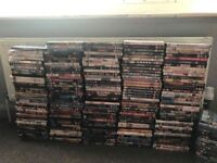Over 250 dvds some ps3 games and about 20 sealed blue rays