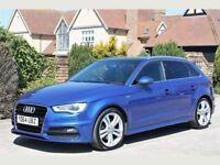 audi a3 sportback blue 2.0tdi auto 184bhp!!! MASSIVE SPEC HPI CLEAR PAN ROOF