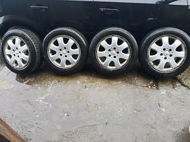 """16"""" MERCEDES ALLOYS WITH NEARLY NEW TYRES"""