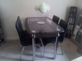 All for £80 Table and chairs for sale also matching tv unit and coffee table