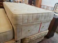 3 quater mattress + divan base with drawer