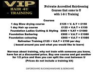 Have you ever wanted to train as a hairdresser or barber 1-2-1 training that comes to U