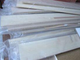 4 x Kitchen Kickboards Plinths 2.5m Long Maple, Pine shelfs furniture making