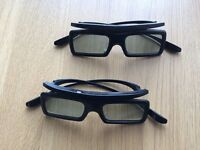 2 pairs of Samsung SSG-3050GB Active 3D glasses