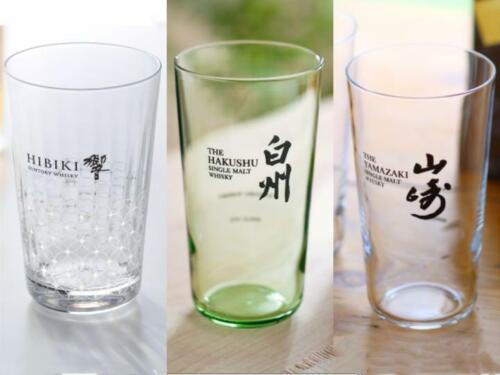 Suntory [Yamazaki Hibiki Hakushu] Whisky Tumbler 3 Mug cup Highball Soda Glass