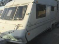 Ace dales 600ct twin axle 5/6 berth touring caravan