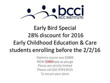 Early Childhood Education and Care courses: Low cost - debt free Bankstown Bankstown Area Preview