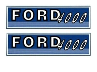 Fjub4000 Ford New Holland Tractor 4000 New Hood Decal Set