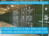 CHEAP SELF STORAGE CONTAINERS (INSIDE avoid damp) CCTV, EASY ACCESS, SECURE BUILDING