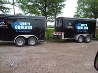 Electric Refrigerated/Cooler Trailer Rentals w/ Draft Option