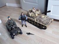 Action Man Bundle inc 3 Action Men & Accessories, Tank & Quad Bike