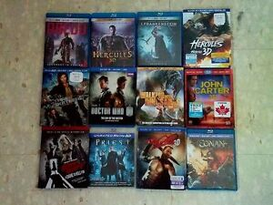 12x 3d Blu-Ray Movies, $7.50 each or all for $75