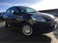 RENAULT CLIO 1.2 PETROL 2006 (06 REG)**£1499**LONG MOT*BLACK*MANUAL*PX WELCOME*DELIVERY