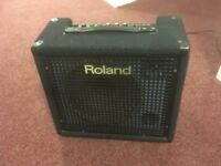 "Roland KC100 12"" keyboard amp, excellent sound quality, also works w/ acoustic guitar & edrums"