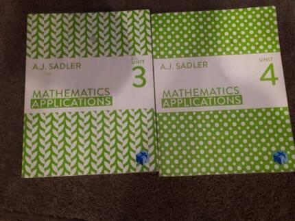 AJ Sadler Mathematics Applications Units 3 and 4