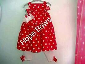 Girls outfits and frilly socks with bows