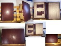 TUSCANY LEATHER (ADRIANO) A4 LEATHER DOCUMENT CASE WITH BUTTON CLOSURE