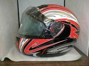 Fulmer Snowmobile Modus Helmet With Double Shield, RED Thrust S