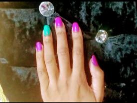 Nails manicures gel polish