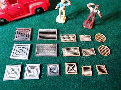16 - HO Scale Wall Vents Exhaust Grates Ventilation Ducts Adhesive Backed  Adhesive Backed Scales
