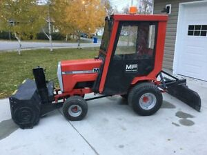 MF tractor with attachments