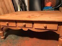 Solid Wood Coffee Table - with drawers