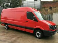 2013 VOLKSWAGEN CRAFTER CR35 TDI DIESEL LWB 109 BHP IN RED ONLY DONE 78K