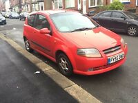 Chevrolet Kalos SX 1.4 2005 (55) Petrol Manual Red.