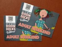 Pair of Adult Weekend Tickets Boondocks Festival 20-21 July 2018, Malmesbury WILTS