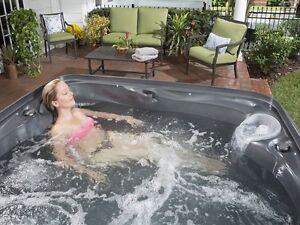 No fancy show room, but THE best price on a hot tub!