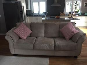 Large microsuede 3 seater couch