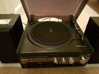 Record Player with speakers and spare replacement needle.