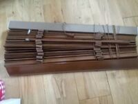 Dark wood blinds from NEXT