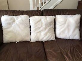 3 cushion inserts