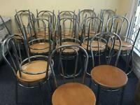Chrome and beech bentwood chairs £6 each